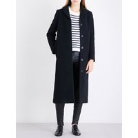 Greaty single-breasted wool-blend coat