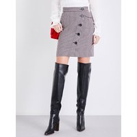 Jasali houndstooth tweed skirt