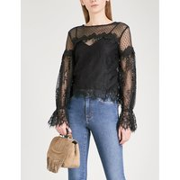 Larita floral-lace top