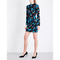 Ripita floral-print crepe dress