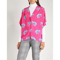 Clower 花-印刷的 绉 衬衫