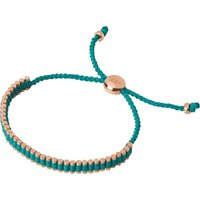 Links Of London 18ct rose gold-plated mini friendship bracelet, Women's