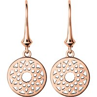 Links Of London Timeless 18ct rose-gold earrings, Women's, Size: Small, gold