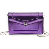 Serpenti Forever metallic leather pouch