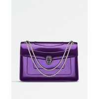 Serpenti Forever patent-leather shoulder bag