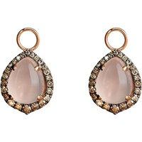 18ct rose-gold, rose quartz and diamond earring drops