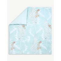Sources printed cotton super king duvet cover
