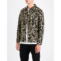 Camouflage-pattern cotton shirt