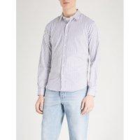 Striped regular-fit cotton shirt