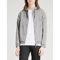Zip-up cotton-blend hoody