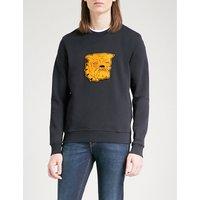 Bulldog cotton-jersey sweatshirt