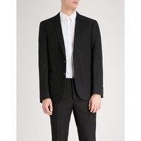 Regular-fit notch lapel wool-blend jacket