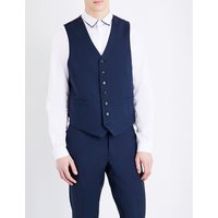 V-neck wool and mohair-blend waistcoat