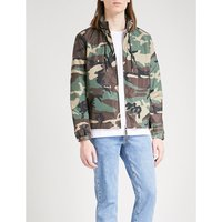 Camouflage-print shell jacket