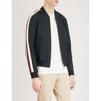 University woven bomber jacket