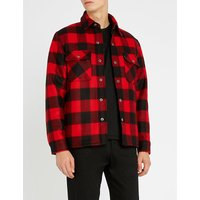 Lumberjack checked wool-blend jacket