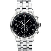 117048 Tradition stainless steel chronograph watch