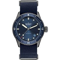 BLANCPAIN | 5000-0240-O52A Manual ceramic fabric strap watch | Goxip