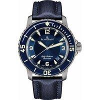 BLANCPAIN | 5015 12B40 O52A Fifty Fathoms titanium automatic watch | Goxip