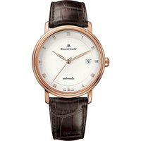 BLANCPAIN | 6223364255 18ct rose-gold and alligator-leather watch | Goxip