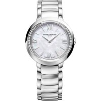 BAUME & MERCIER | Baume & Mercier M0a10160 Promesse stainless steel and diamond watch | Goxip