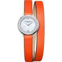 BAUME & MERCIER | Baume & Mercier 10290 Petite Promesse leather and diamond watch | Goxip