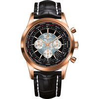 BREITLING | RB0510U4.BB63.761P Transocean Unitime 18ct rose-gold and alligator-leather watch | Goxip