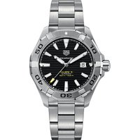 Tag Heuer Aquaracer stainless steel black mens, Mens, Black