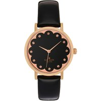 Kate Spade 1YRU0583 Metro rose gold-plated and leather watch, Women's