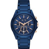 AX2607 blue stainless steel chronograph watch