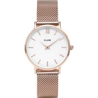 CLUSE | Cluse CL30013 Minuit stainless steel rose gold mesh watch | Goxip