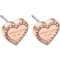 Michael Kors Heart rose gold-tone crystal earrings