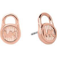 Lock rose gold-toned earrings