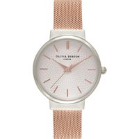 Olivia Burton OB15TH18 Hackney silver and rose gold-plated watch, Women's, silver