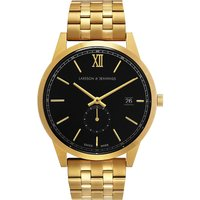 Saxon Vasa 18ct gold-plated stainless steel watch
