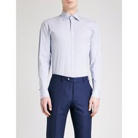 Checked athletic-fit stretch-cotton shirt