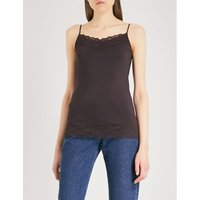 Lace-trim stretch-jersey camisole