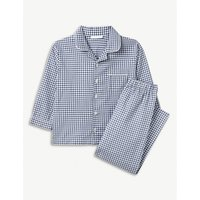 THE LITTLE WHITE COMPANY | Mini gingham cotton pyjamas 7-12 years | Goxip