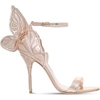 Chiara embroidered metallic-leather sandals