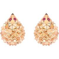 BOUCHERON | Boucheron Hans the Hedgehog 18ct pink-gold, black diamond and ruby stud earrings, black | Goxip