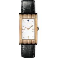 BOUCHERON   Boucheron Reflet large 18ct pink-gold, cabochon and alligator leather watch, Mens   Goxip