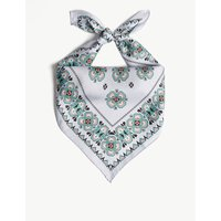 Geometric print silk scarf