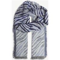 Tiger stripe cotton foulard