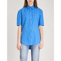 Contrast-stitch cotton shirt