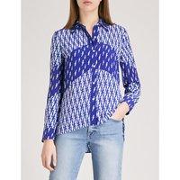 Lightning-print crepe shirt