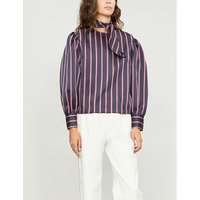 Striped satin blouse