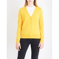 V-neck wool and cashmere-blend cardigan