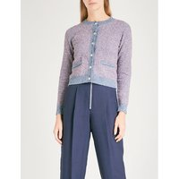 Contrast-trim knitted cardigan