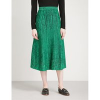 Woven-pattern knitted skirt