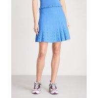 Cutout-detail knitted skirt
